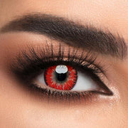 Color-Red Circle Lenses
