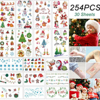 TopsFace Xmas Tattoo Stickers