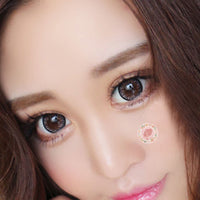 TopsFace Flower Grey Colored Contact Lenses