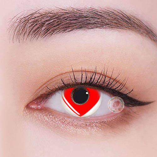 TopsFace Heart red Colored Contact Lenses