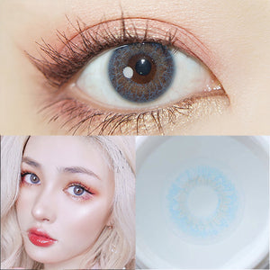 TopsFace Iris Blue II Prescription Colored Contact Lenses