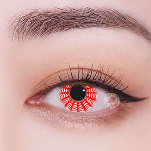 TopsFace Spiderweb Red Colored Contact Lenses