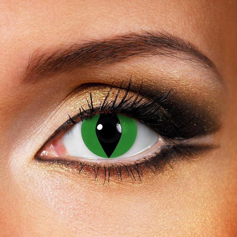 TopsFace Cat Eye Green Colored Contact Lenses