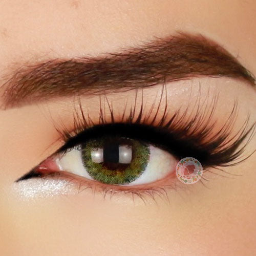 TopsFace Euroamerician Brown-Green Colored Contact Lenses