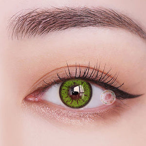 TopsFace Fire Green Colored Contact Lenses