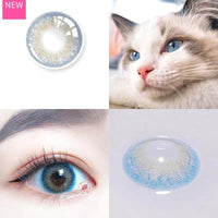 TopsFace Little Wild Cat Blue Colored Contact Lenses