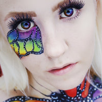 TopsFace Colorful Rainbow Colored Contact Lenses
