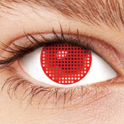 TopsFace Red Mesh Colored Contact Lenses