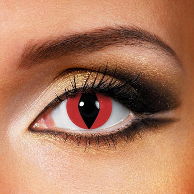 TopsFace Cat Eye Red Colored Contact Lenses
