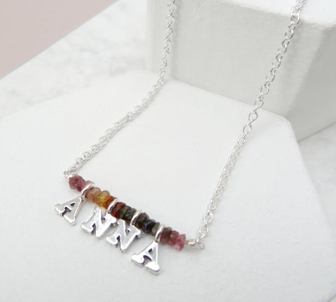 Tourmaline Word Necklace