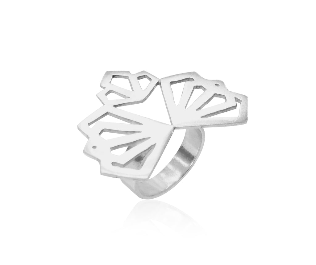 Deco Ring - Available in Silver and Gold Vermeil
