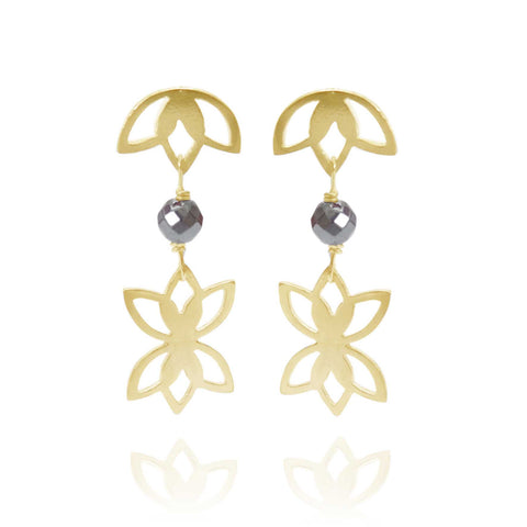 Haematite Earrings - Available in Silver and Gold Vermeil