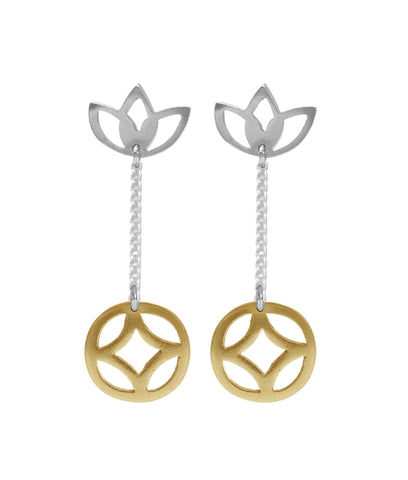 Geo Chain Earrings