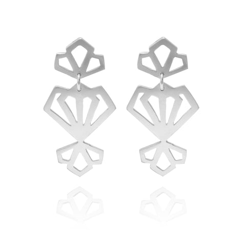 Deco Earrings - Available in Silver and Gold Vermeil