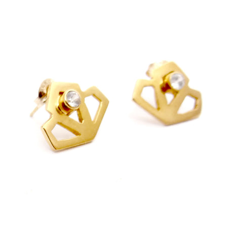 Mini Deco Studs - Available in Silver and Gold Vermeil