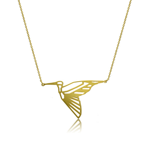 Heron Necklace in Gold Vermeil