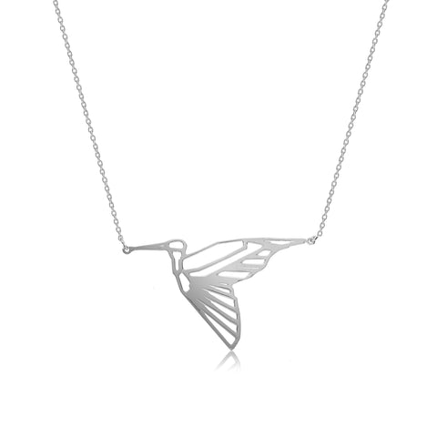 Heron Necklace in Silver