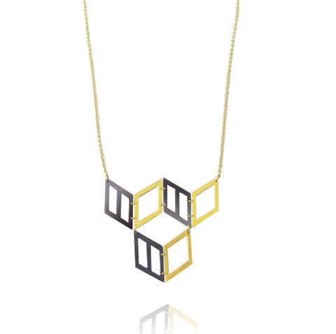 Hex Small Cube Necklace