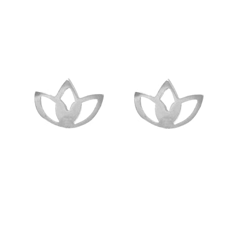 Lotus Studs in Silver or Gold Vermeil