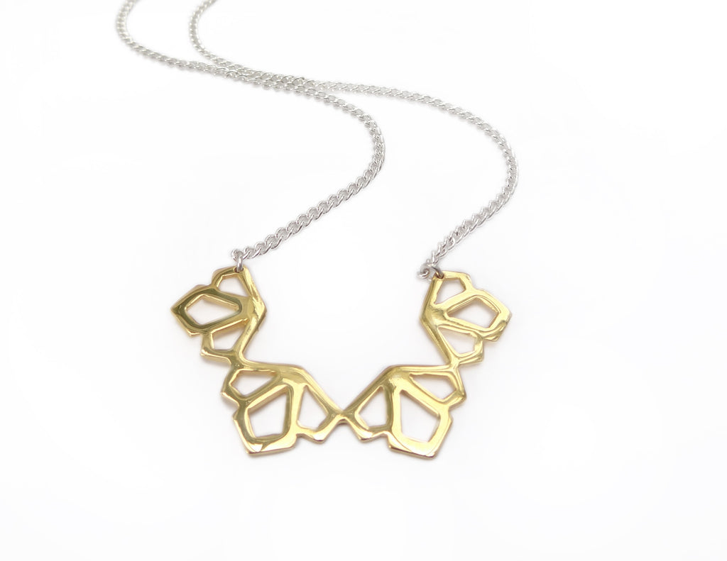 Medium Deco Necklace in Gold Vermeil