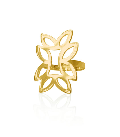 Geo Oblong Ring - Available in Silver and Gold Vermeil
