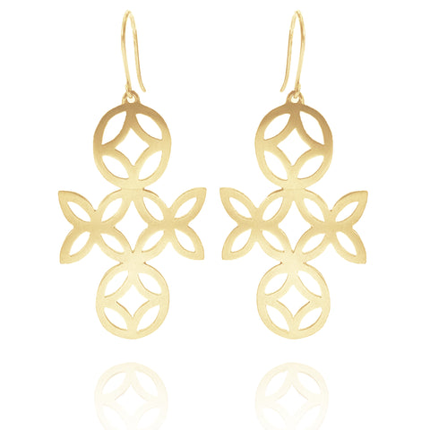 Geo Large Dangly Earrings - Available in Silver and Gold Vermeil