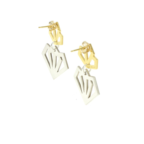 Deco Mixed Metal Earrings
