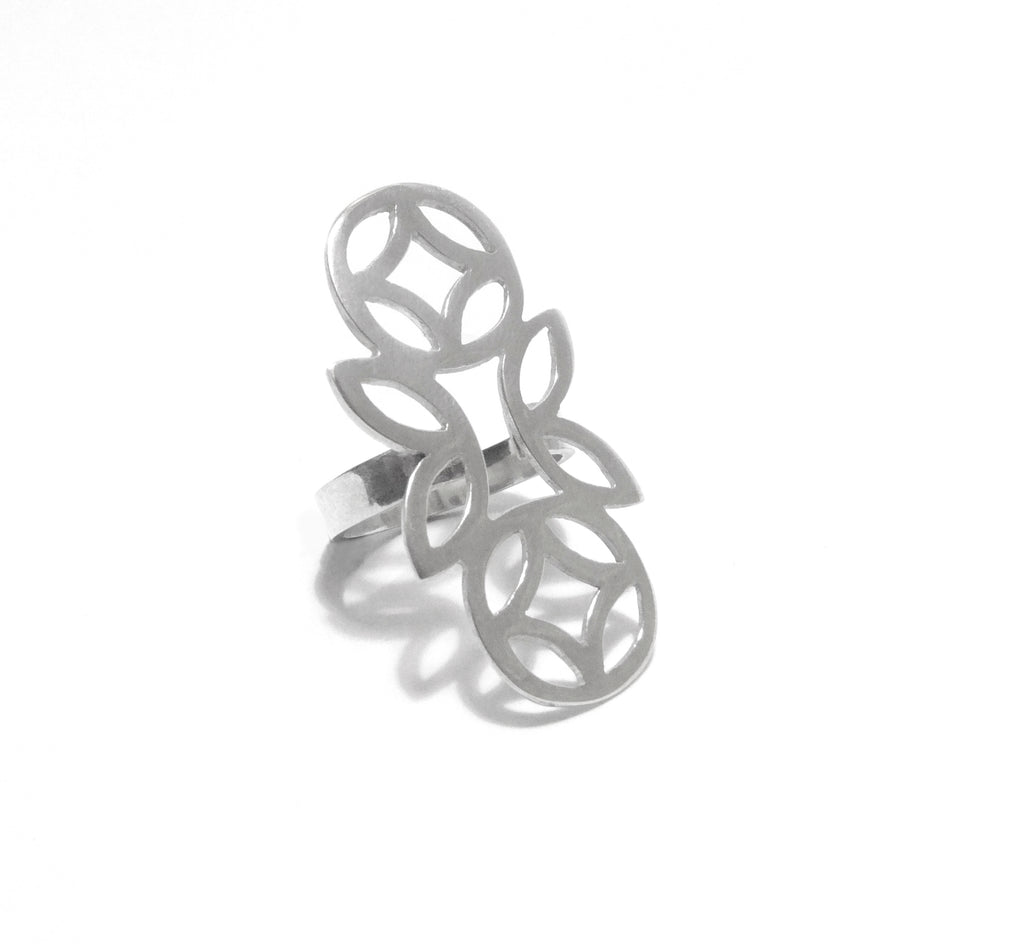 Geo Tall Ring - Available in Silver and Gold Vermeil
