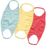 Organic Cotton Solid Kids Mask , Assorted Color (Pack of 3)