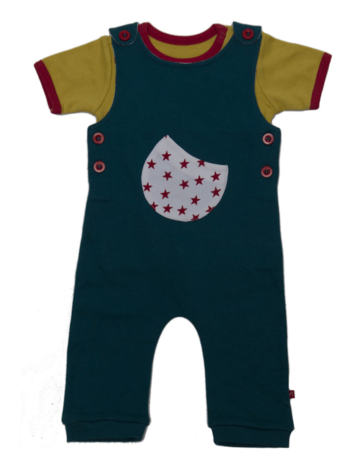 Nino Bambino 100% Organic Cotton Multi-Color Dungaree Sets for Baby Boy