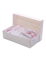 Nino Bambino 100% Organic Cotton White & Pink Print Essentials Gift Sets (Pack Of 10) For Newborn Baby Girls