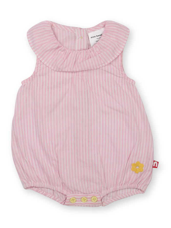 Nino Bambino 100% Organic Cotton Round Nack Bodysuit Dress For Baby Girls