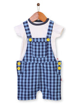 Nino Bambino 100% Organic Cotton Multi Color Dungaree Set For Babies & Kids Boy