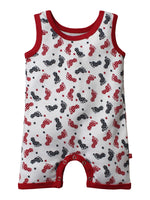 100% Organic Cotton Sleeveless Romper/Tank-Tops