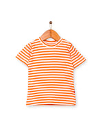 Nino Bambino 100% Organic Cotton Orange Color T-Shirt For Baby Boys