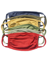Organic Cotton Solid Kids Mask , Assorted Color (Pack of 6)