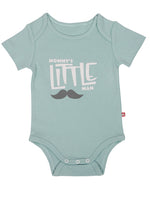 Nino Bambino 100% Organic Cotton Round Neck Half-Sleeves Aqua Sky Color Bodysuit For Baby Boy