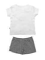 Nino Bambino 100% Pure Organic Cotton T-Shirt & Shorts Set For Babies & Kids Boy