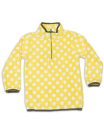 Nino Bambino Anti-Pill Polyester Recycled Polar Fleece Long Sleeve Highneck Yellow Color Winter Sweatshirt For Baby Boy And Kids Boy