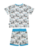 Nino Bambino 100% Organic Cotton Kids Top & Shots Set