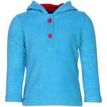 Nino Bambino Anti-Pill Polyester Recycled Polar Fleece Long Sleeve Turquoise Color Winter Hoodie Sweatshirt For Unisex Baby
