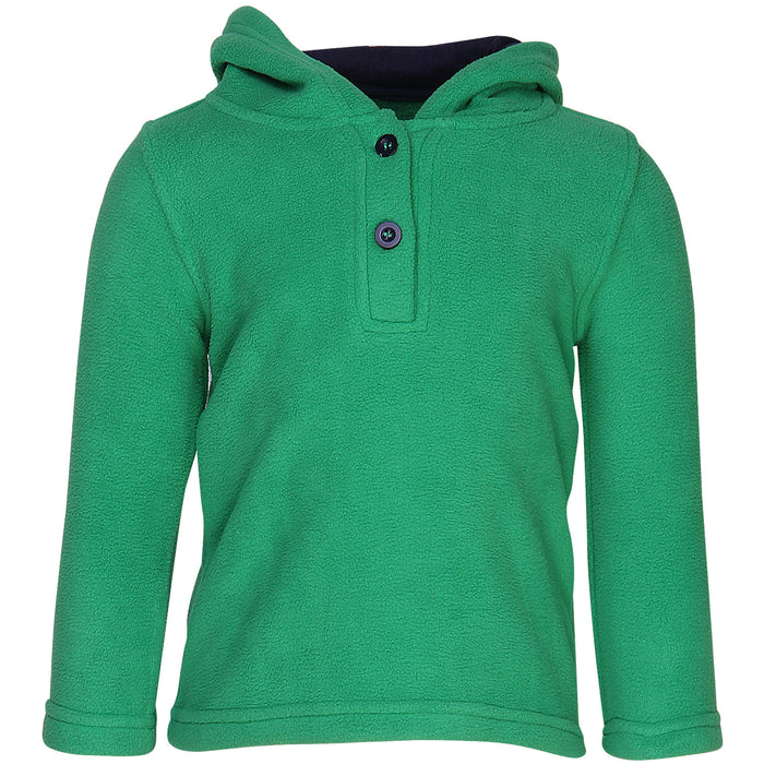 Nino Bambino Polar-Fleece Green Color Hoodie Sweatshirt For Unisex Baby