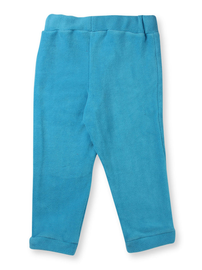 Nino Bambino Turquoise Color Polar Fleece Leggings For Babies
