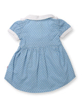 Nino Bambino 100% Organic Cotton Cap Sleeve APRON DRESS For Baby Girls