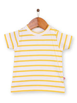 Nino Bambino 100% Organic Cotton Striped Round Neck T-Shirt & Shorts Set For Baby & Kid Boys