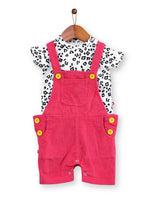 Nino Bambino 100% Organic Cotton Multi Color Dungaree Set For Baby Boy