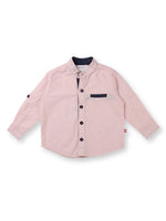 Nino Bambino 100% Organic Cotton Full Sleeves Baby Boy Shirt With Peter Pan Collar