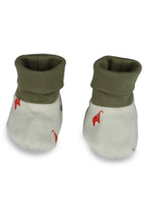 Nino Bambino 100% Organic Cotton Roll Over Booties