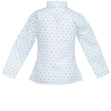 Nino Bambino 100% Organic Cotton Round Neck Full Sleeves Printed White Tunic Tops for Baby Girls