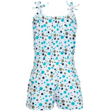 Nino Bambino 100% Organic Cotton Green Polka Sleeveless Jumpsuit For Baby Girl